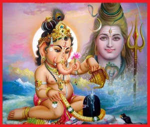 bal ganpati with shiv