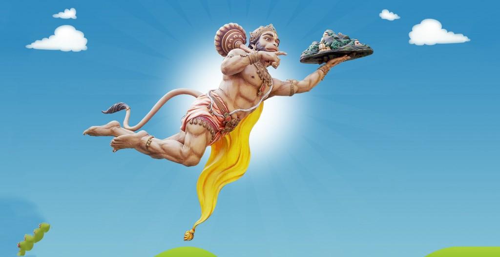 hanumanji flying