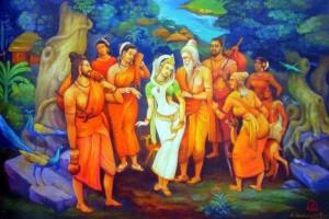 Lord-Maha-Rishi-Durvasa-Ji-With-Shakuntala (1)