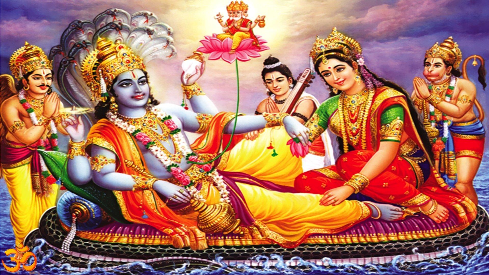 vishnu-ji-mata-laxmi-narad-and-hanuman
